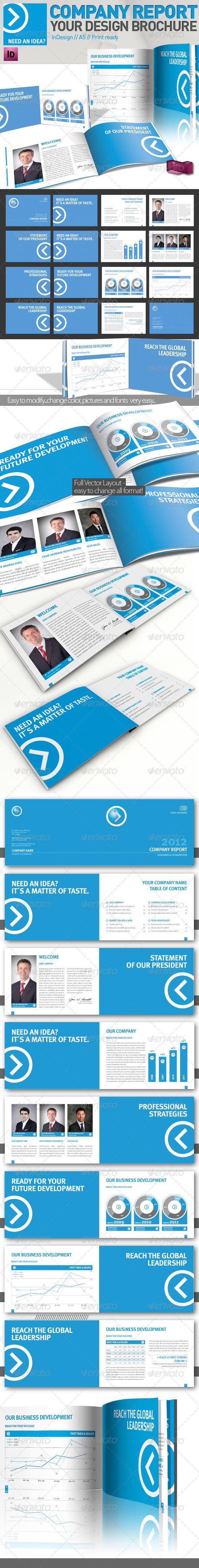 Company Brochure // Magazine Template // A5