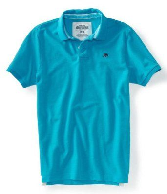 I'll never outgrow wearing every color of these. Aeropostale Mens Polo Rugby Polo Shirt