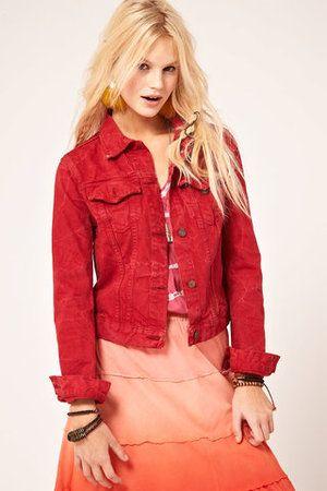 17 best ideas about Red Denim Jacket on Pinterest | Animal print ...