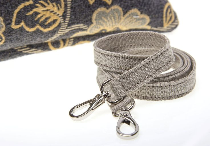 TRACOLLINA IN LINO CON MOSCHETTONI NICKEL FREE  Linen shoulder strap with nickel free snap