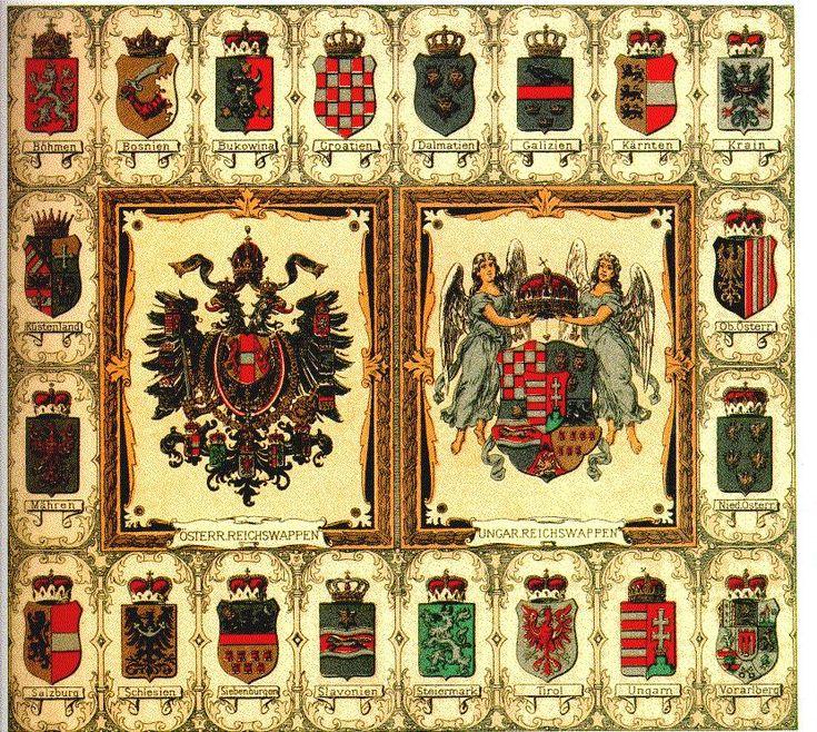 Empire of Austria-Hungary, shield of the medium coat of ...