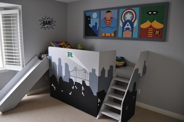 Room Inspiration 16 Superhero Themed Rooms For Boys (12)