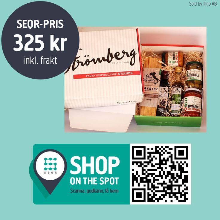 Italienska delikatesser  Köp direkt genom att scanna qr-koden med SEQR-appen.