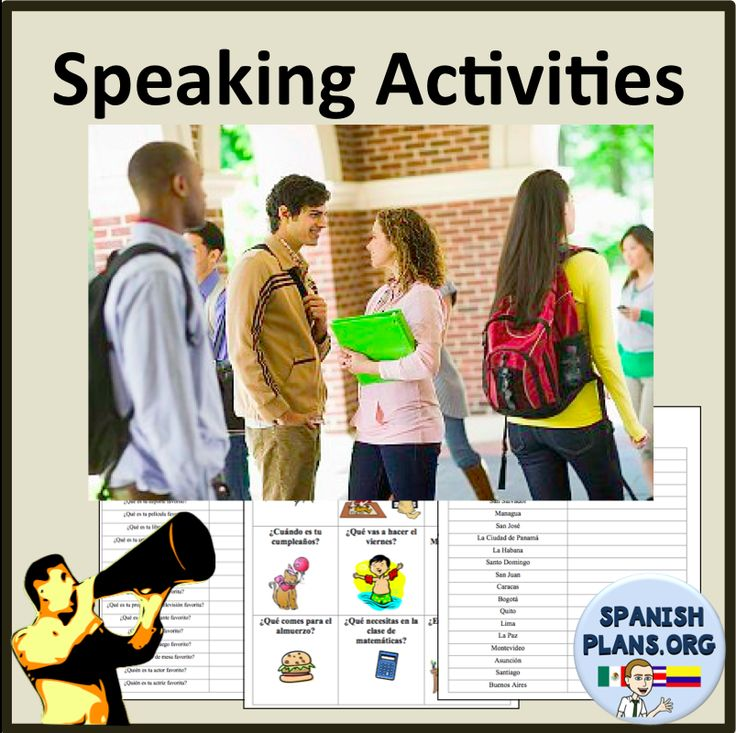speaking activities for classroom Speaking activity to practice pronouns in a foreign language posted on august 16 design communicative activities in the foreign language classroom (slideshare) hide and speak (or write): foreign language activity to practice speaking and writing foreign language exercises and tasks.