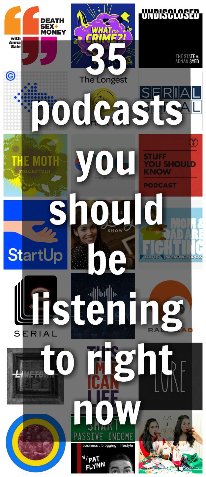 My Favorite Podcasts (Running from the Law) | podcasts | Pinterest | Books, Reading and TED Talks