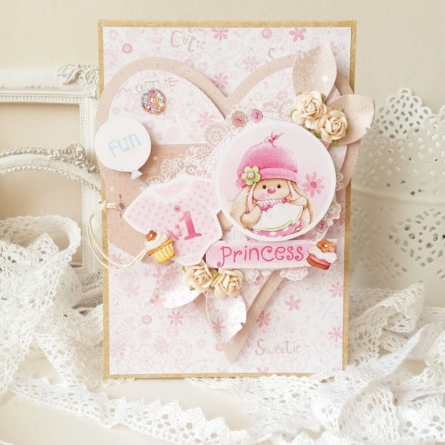 Lovely baby girl card by Mariusz Gierzewski #babygirl #cards #baby #girl