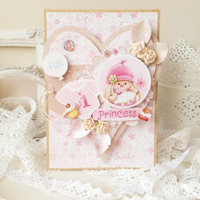 Lovely baby girl card by Mariusz Gierzewski (ScrapBerry's My Little Star) #babygirl #cards #baby #girl