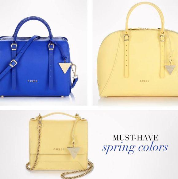 Яркие, весенние сумочки от #Guess – это просто #MustHave в гардеробе каждой девушки! #SS15 #SpringSummer2015 #MyGuess #GuessGirl