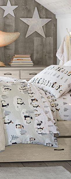 Corduroy Cozy and Penguin Bedding