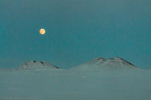 The Perigee is the point in the moon's orbit at which it's closest to Earth  Photographed at midnight in Tuktoyaktuk, Canada by Francis Anderson (May 5th, 2012)