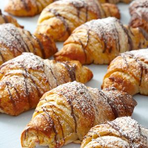 French Pastry Chocolate Croissants