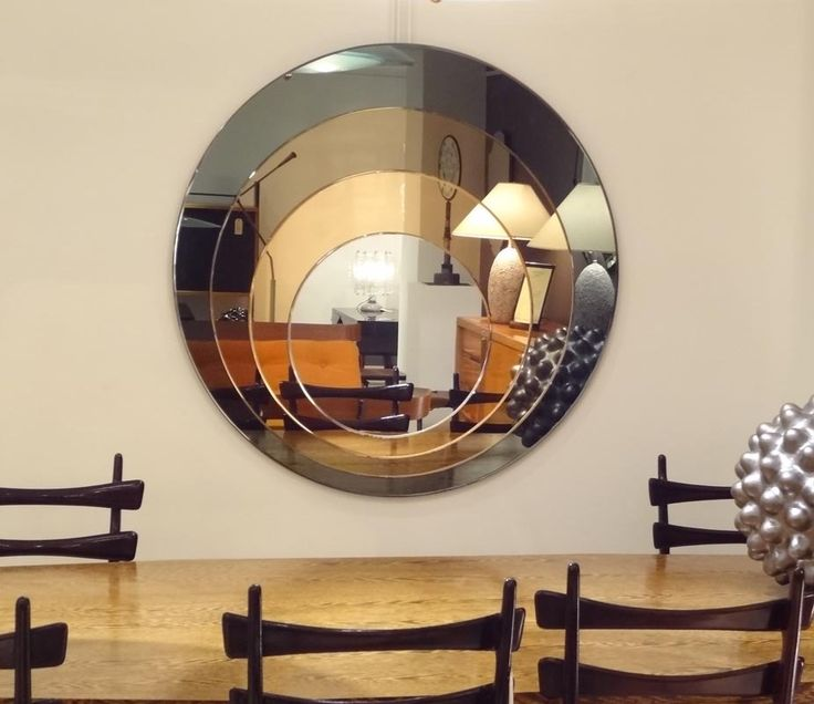 1000 Ideas About Circle Mirrors On Pinterest: Large Round Four Color Wall Mirror At 1stdibs