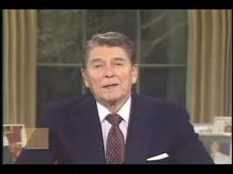 ronald reagan farewell speech President reagan reflects on economic progress and the country's morale.