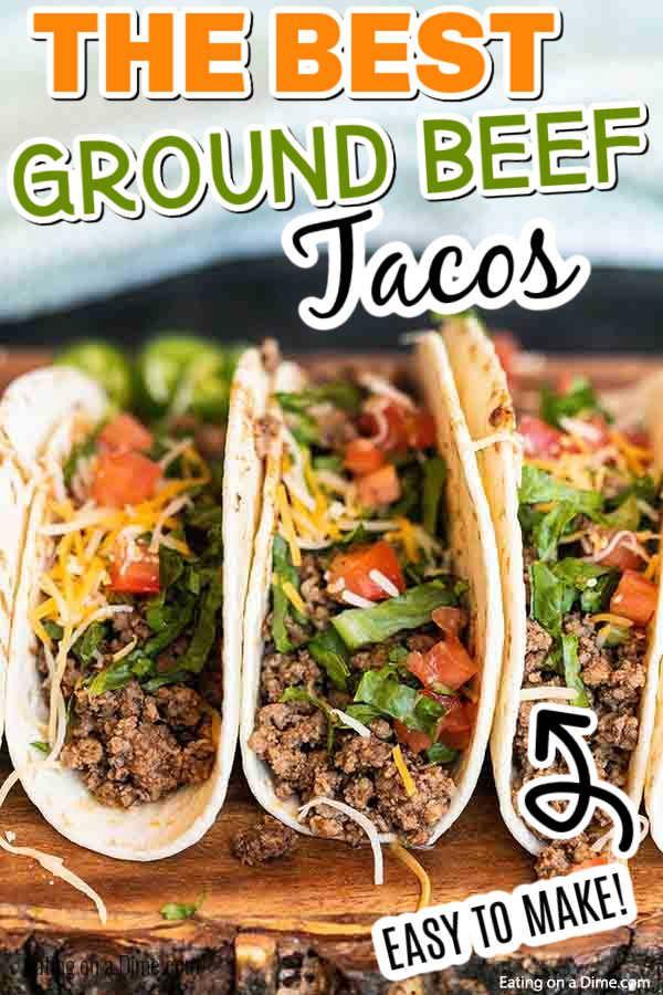 Ground Beef Tacos Recipe Best Ground Beef Taco Recipe Recipe In 2020 Ground Beef Spanish Rice Recipe Easy Ground Beef Taco Seasoning