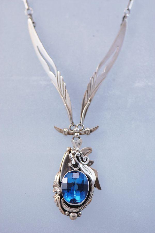 london blue topaz necklace - Google Search