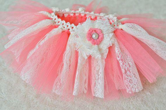 Coral lace tutu lace tutu baby tutu by SweetandSwirlTutus on Etsy, $29.99