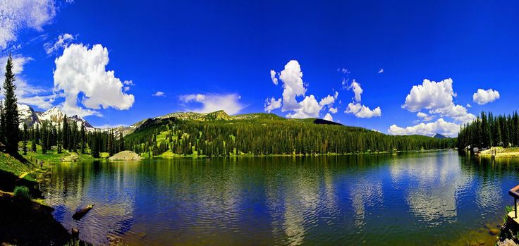 Lake Irwin, Crested Butte, - there is a lake side ...