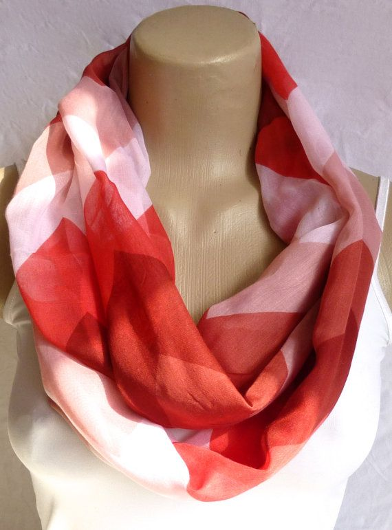 Infinity Scarf in Orange Rusty tones Chevron by ShawlsandtheCity, $17.00