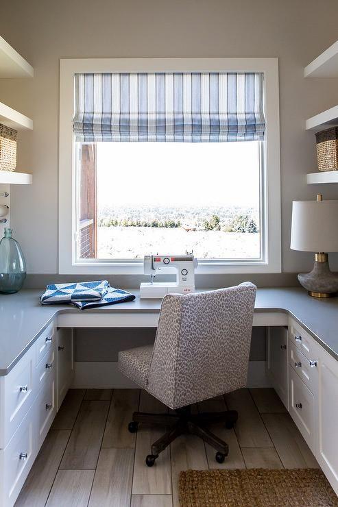 U Shaped Home Office Cabinets