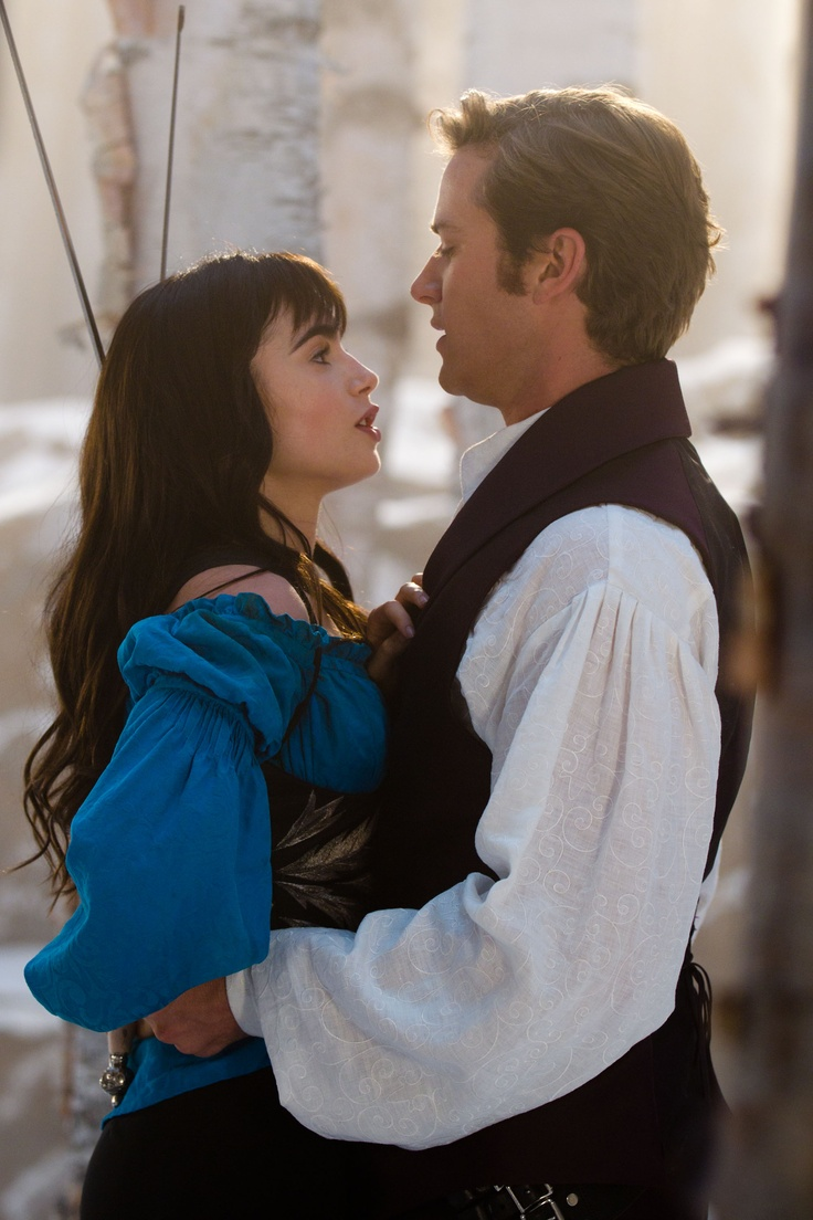 Lily Collins as Snow White and Armie Hammer as Prince Andrew Alcott in Mirror Mirror