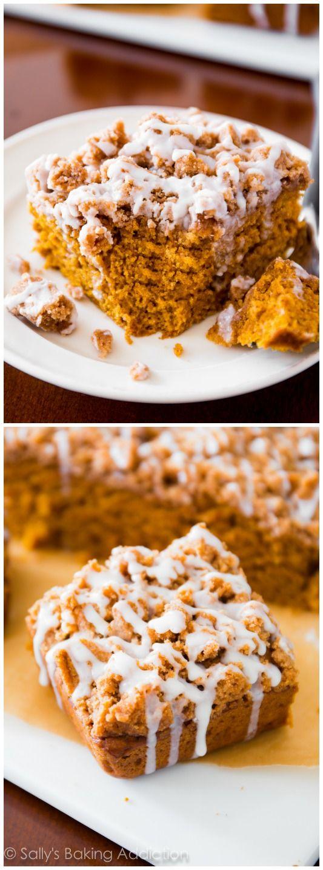 Sallys Baking Addiction Iced Pumpkin Coffee Cake. - Sallys Baking Addiction
