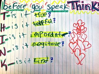 Behavioral Interventions--For Kids!: THINK...before you speak...