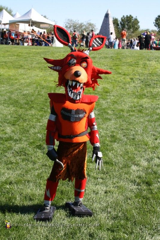 Nightmare FNAF Foxy Costume ... Coolest Friday Night at Freddy's Homemade Costume Idea