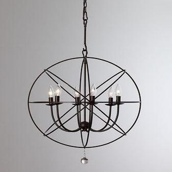 Wrought Iron Sphere Chandelier, Neiman Marcus