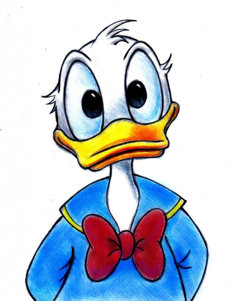 donald duck zeichnung