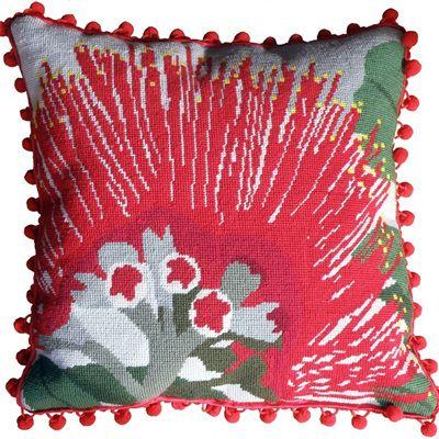 Pohutukawa flower needlepoint kit from The Stitchsmith