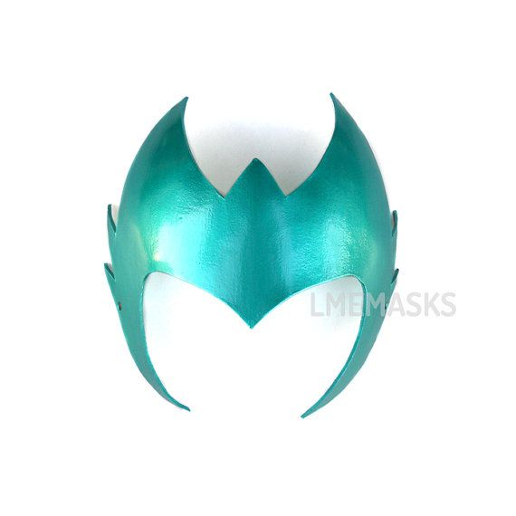 Amora The Enchantress Leather Headdress Crown Green by LMEmasks