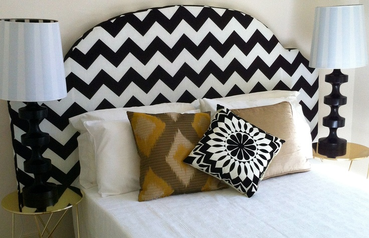 Mi Chevron Headboard. fabric from Sparkk
