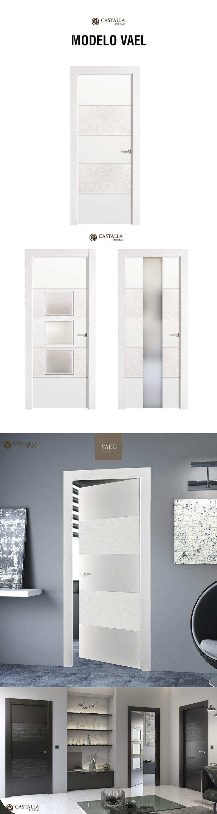 Puerta de interior con cristal Modelo VAEL. Puertas Castalla glass interior door model VAEL Castalla Doors