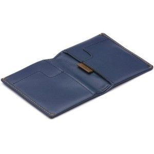 Bellroy Men's Leather Slim Sleeve Wallet Pull-tab for infrequently accessed cards. Bills can be folded in 2 or 3 folds. Slim profile reduces wallet bulk.