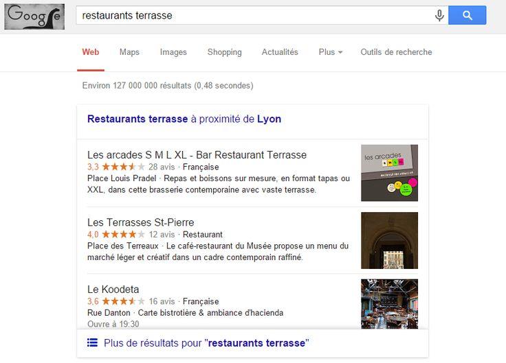 Nouvelle présentation locale pour Google.