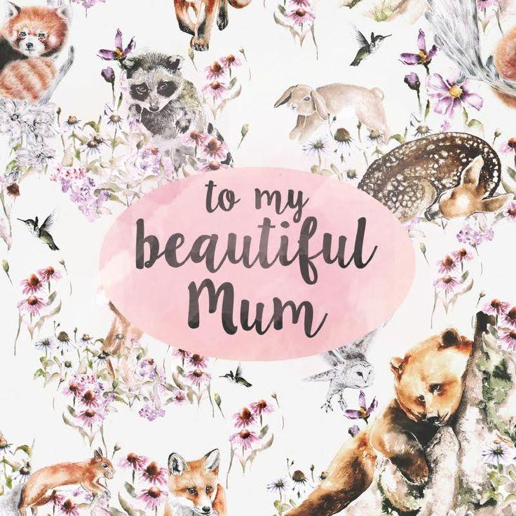 To My Beautiful Mum Greeting Card