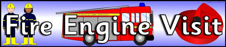 Fire Engine Visit display banner (SB8998) - SparkleBox