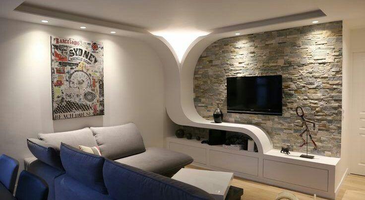 احدث ديكورات مكتبات جبس بورد2019 Plafond Design Living Room Decor Inspiration Ceiling Design Living Room