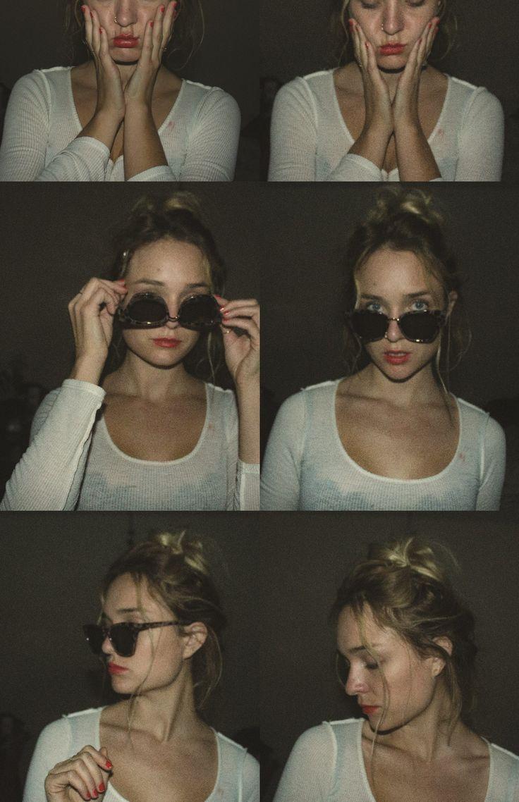 Photoshoot Girl Blonde Vintage Film Collage Instagram Coral Monday Andy Warhol