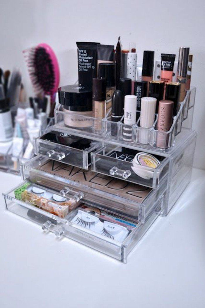 52 idées de rangement make-up en photos et vidéos! – clara