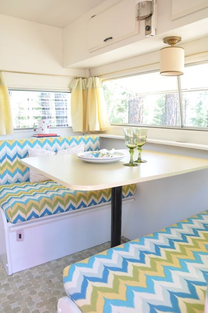 Danielle Oakley Interiors, her mom's travel trailer