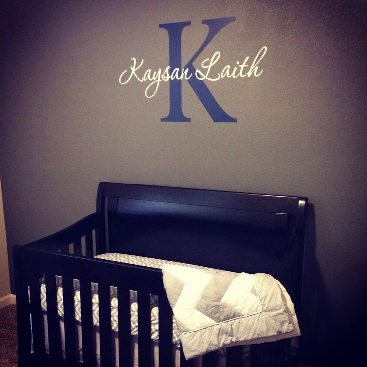 Our nursery :-) Monogramed name above crib.