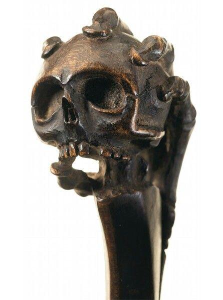Ball-Headed 'Skull' Club, Iroquois, ca. 1860's