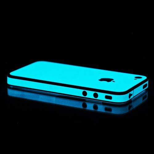 Blue Glow in the Dark iPhone case