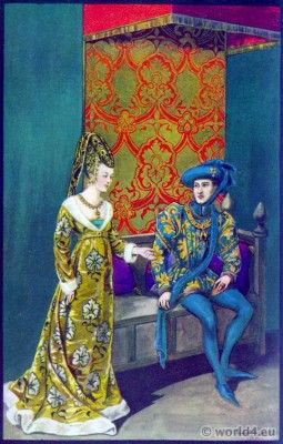 Plate XXII. Isabelle of Portugal 1428-1496 Queen of Castile and Philippe le Bon 1396-1467 Duke of Burgundy.