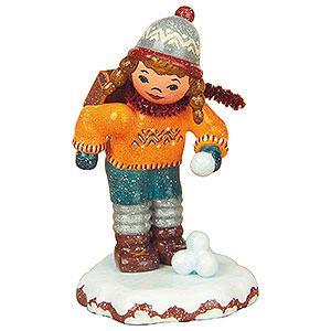 Winterkinder Schulmädchen (7cm) von Hubrig Volkskunst