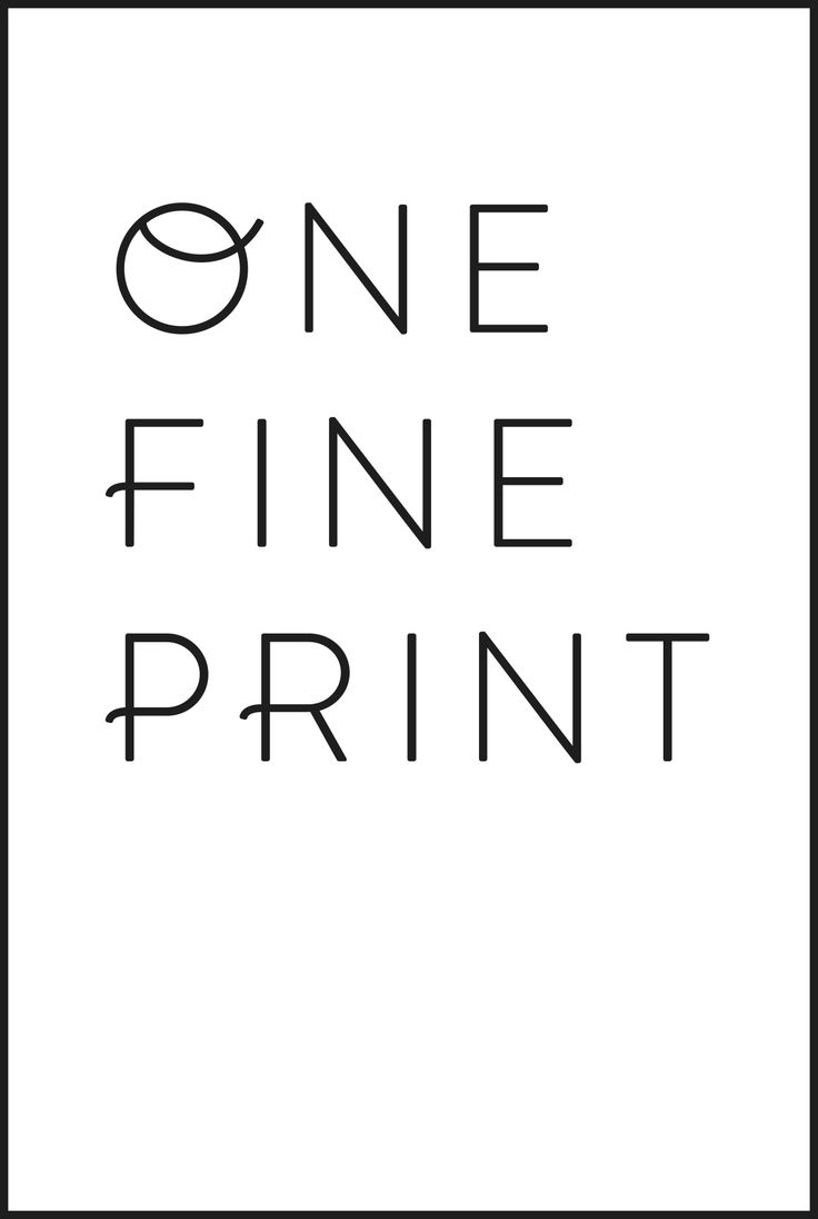 One Fine Print