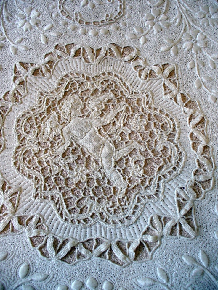 detail of Cupid quilt...