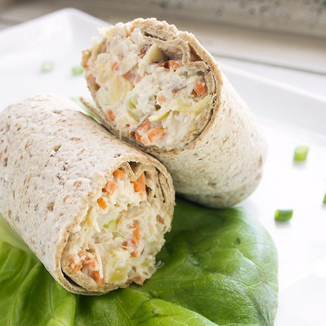 Pineapple Chicken Salad Wraps | Skinny Mom | Where Moms Get The Skinny On Healthy Living #Skinnymom