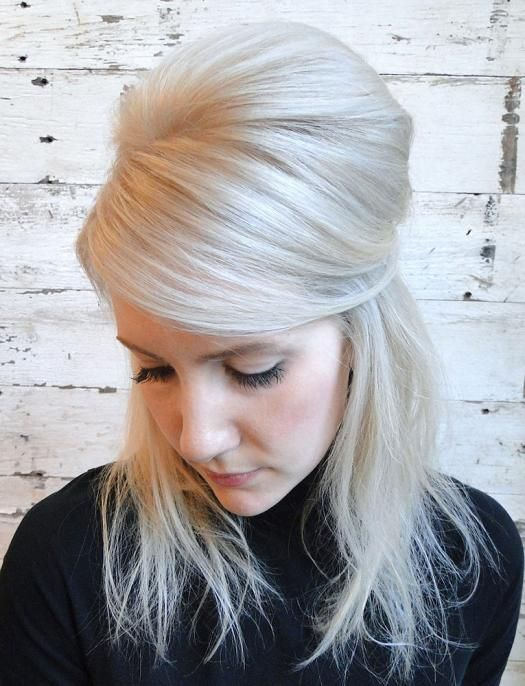 Senior stylist Graziella Lembo of SalonCapri in Boston created this Brigitte Bardot bump hairstyle for the holiday season.